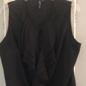 Milano black sleeveless blouse size L